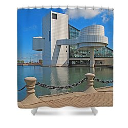 Rock And Roll Hall Of Fame Shower Curtain by Dave Mills