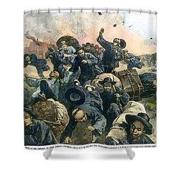 Rock Springs Massacre Shower Curtain by Granger