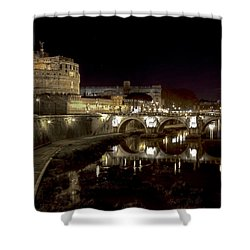 Rome Ponte San Angelo Shower Curtain by Joana Kruse