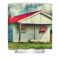 Shower Curtain featuring the painting Royster Fertilizers  by Lynne Jenkins