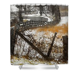 Rural Route Shower Curtain by Ron Jones