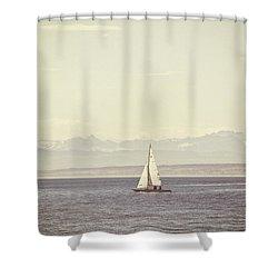 Sailing Boat Shower Curtain by Joana Kruse
