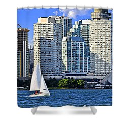Sailing In Toronto Harbor Shower Curtain by Elena Elisseeva