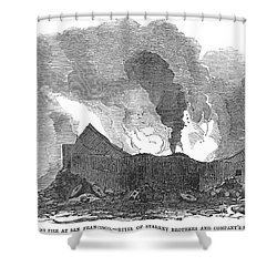 San Francisco: Fire, 1851 Shower Curtain by Granger