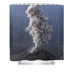 Santiaguito Ash Eruption, Guatemala Shower Curtain by Martin Rietze