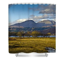Scottish Landscape View Shower Curtain by Gary Eason