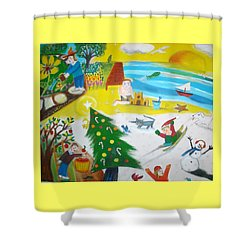 Seasons Shower Curtain by Ward Smith