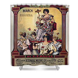 Sheet Music Cover, 1916 Shower Curtain by Granger