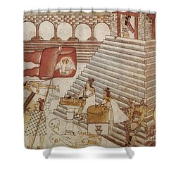 Siege Of Tenochtitlan 1521 Shower Curtain by Photo Researchers