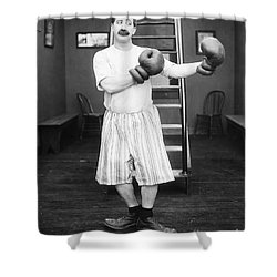 Silent Film Still: Boxing Shower Curtain by Granger