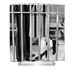 Silent Film Still: Legs Shower Curtain by Granger