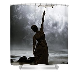 Silhouette Shower Curtain by Joana Kruse