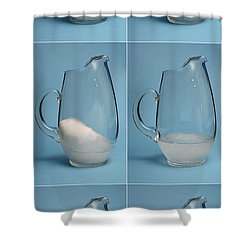 Snow Melting Shower Curtain by Ted Kinsman