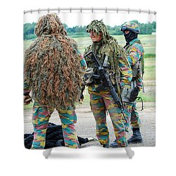 Soldiers Of The Special Forces Group Shower Curtain by Luc De Jaeger