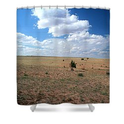 Shower Curtain featuring the photograph Somewhere Off The Interstate In New Mexico by Lon Casler Bixby