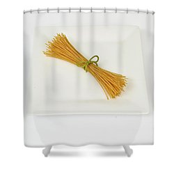Soybean Spaghetti Shower Curtain by Photo Researchers