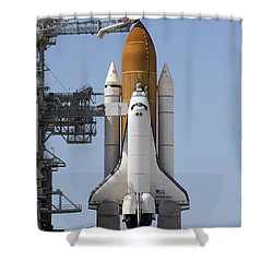Space Shuttle Endeavour Sits Ready Shower Curtain by Stocktrek Images