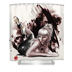 Spider Webs Shower Curtain by Pete Tapang