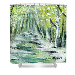 Shower Curtain featuring the painting Spring by Shana Rowe Jackson