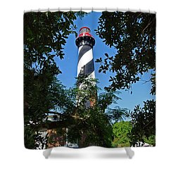 St Augustine Lighthouse Shower Curtain by Skip Willits