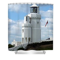 St. Catherine's Lighthouse Shower Curtain by Carla Parris
