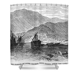St. Thomas: Hurricane, 1867 Shower Curtain by Granger
