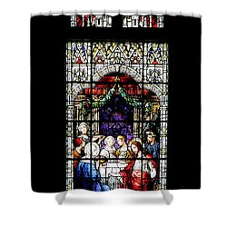 Stained Glass Window Shower Curtain by Rudy Umans