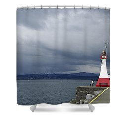 Shower Curtain featuring the photograph Stormwatch by Marilyn Wilson