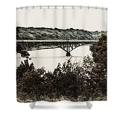 Strawberry Mansion Bridge From Laurel Hill Shower Curtain by Bill Cannon