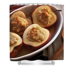 Stuffed Baked Apples Shower Curtain by Joana Kruse