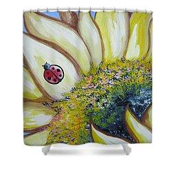 Sunflower And Ladybug Shower Curtain