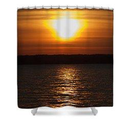 Shower Curtain featuring the photograph Sunrise On Seneca Lake by William Norton