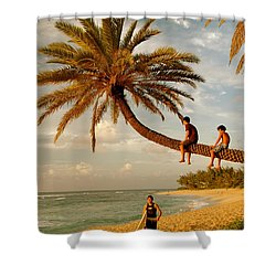Sunset Beach Oahu Shower Curtain