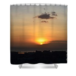 Sunset Upon The Ocean  Shower Curtain