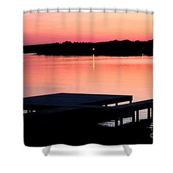 Shower Curtain featuring the photograph Sunset View From Dockside by Kathy  White
