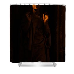 Supplication Shower Curtain by Lisa Knechtel