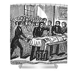 Surgery Without Anesthesia, Pre-1840s Shower Curtain by Science Source