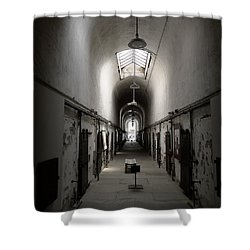 Sweet Home Penitentiary Shower Curtain by Richard Reeve