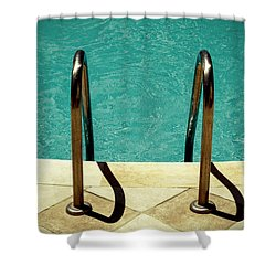 Swimming Pool Shower Curtain by Joana Kruse