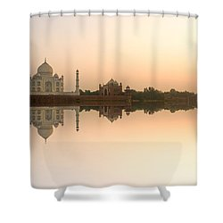 Shower Curtain featuring the photograph Taj Mahal  by Luciano Mortula