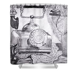 Tea Time Shower Curtain by Vickie G Buccini