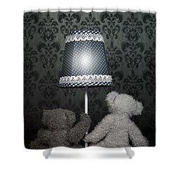 Teddy Bears Shower Curtain by Joana Kruse