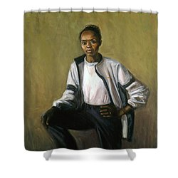 Tegla Loroupe Shower Curtain by Sarah Yuster