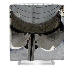 The Aft Portion Of The Space Shuttle Shower Curtain by Stocktrek Images