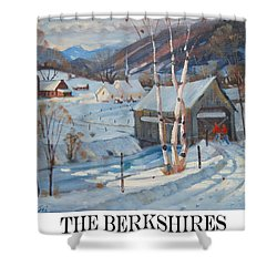 Shower Curtain featuring the painting the Berkshires by Len Stomski
