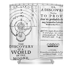 The Discovery Of A World In The Moone Shower Curtain by Science Source