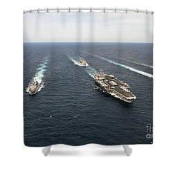The Enterprise Carrier Strike Group Shower Curtain by Stocktrek Images