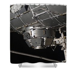 The International Space Stations Shower Curtain by Stocktrek Images