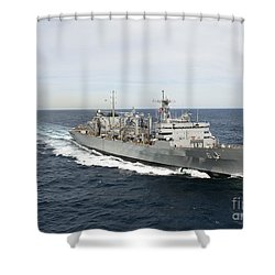 The Military Sealift Command Fast Shower Curtain by Stocktrek Images