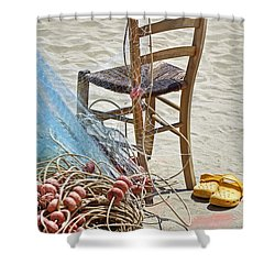 The Place Of The Fisherman Shower Curtain by Joana Kruse